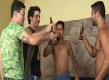 Orgia Gay com Brasileiros Pauzudos